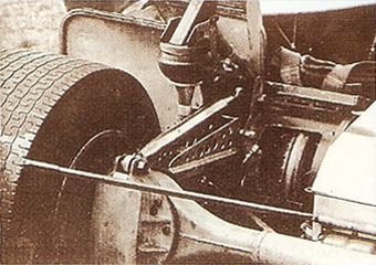 The left rear suspension of The Continental Special