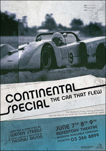 "Poster advertising ""The Continental Special : The Car That Flew"""